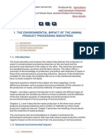 1. the Environmental Impact of the Animal Product Processing Industries