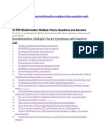 Bioinformatics Multiple Choice Questions and Answers List