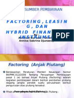 Factoring, Leasing, Dan Hybrid Financial Instrument