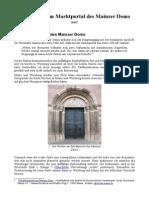 Die Farben Am Marktportal Des Mainzer Doms
