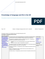 Knowledge of language and life in the UK