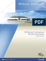 Rapport Impact of Retscreen