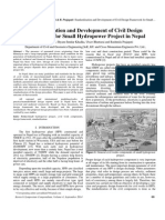 Standardization and Development of Civil Design Framework for Small Hydropower Project
