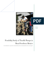 feasibility study of treadle pumps in rural southern mexico