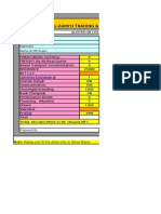 Quotation Costing Sheet