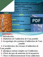 Exposée Sur L_adduction d L_eau Potable