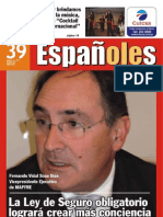 Revista Españoles, número 39 Agosto 2009