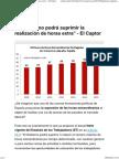 _El Gobierno Podrá Suprimir La Realización de Horas Extra_ - El Captor