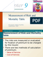 Chapter 9 [Measurement of Risk and Mortality Table].pptx