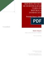 Primer Reporte Técnico 2015 de Siniestralidad