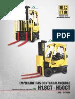 Especificação Técnica - Empilhadeira Hyster H1.8CT - H50CT 1800k-2500kg