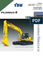 Especificação Técnica Escavadeira Hidráulica Komatsu PC 200