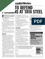 TATA Steel Pensions Strike