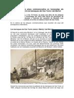 Dossier sobre la col·locació de la placa en homenatge als veïns de les barraques de Can Tunis