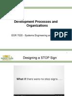 Develoment Process and Organization