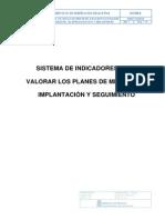 Sistema Indicadores Para Planes de Mejora