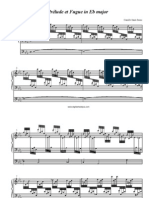 Saint-Saens Prelude and Fugue in Eb for Organ sheet music in pdf