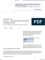 Excel – Separando Nome e SobreNome _ Tomás Vásquez - Blog