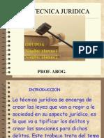 La Tecnica Juridica Trabajo Facu