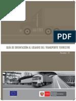 Guia de Orientación Al Usuario Del Transporte Terrestre