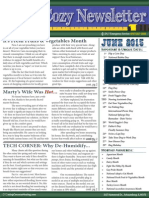 June's Cozy Newsletter 2015