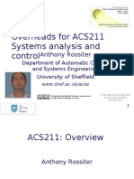 Systems Analysis and Control