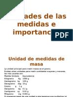 Unidades de Las Medidas e Importancia