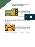 Productos o Sustancias Naturales Que Disminuyen Las Grasas en El Estomago