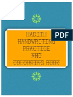 Hadith Handwriting and Colouring Book (Boys)