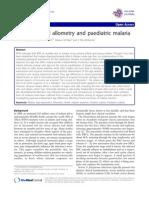 Developmental allometry and paediatric malaria