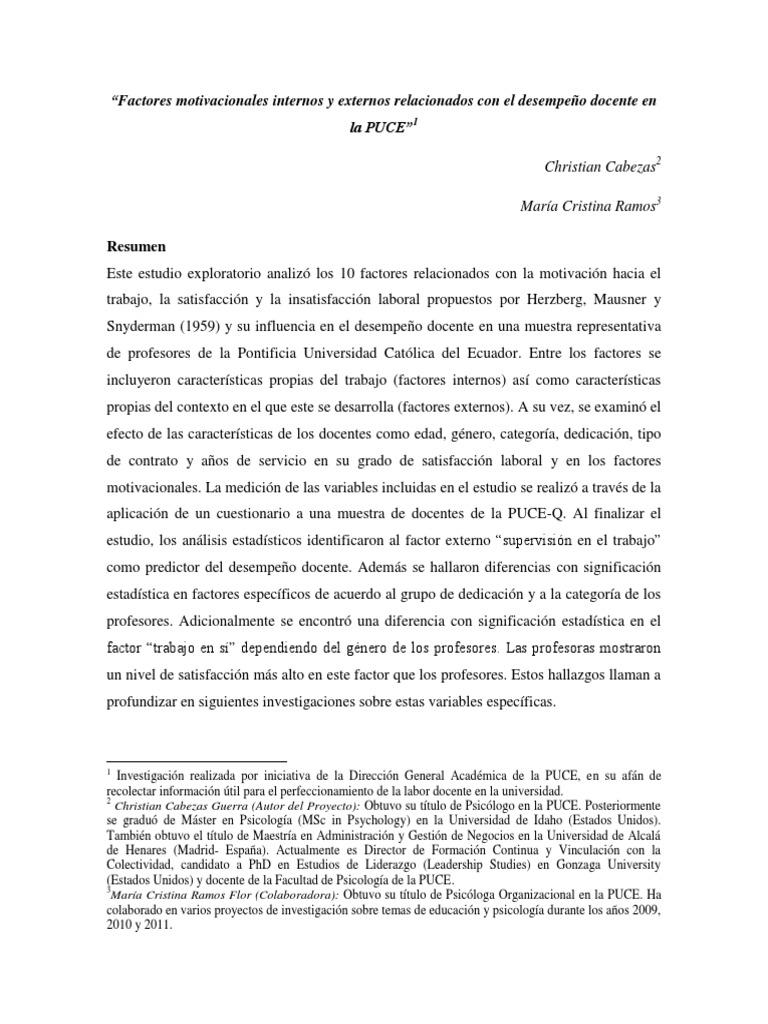 Pon Cristian Cabezas Maria Cristina Ramos Factores