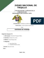 Criterio de Verdad Informe