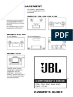 JBL Northridge E30 E60 E80 E90 Operators Manual English