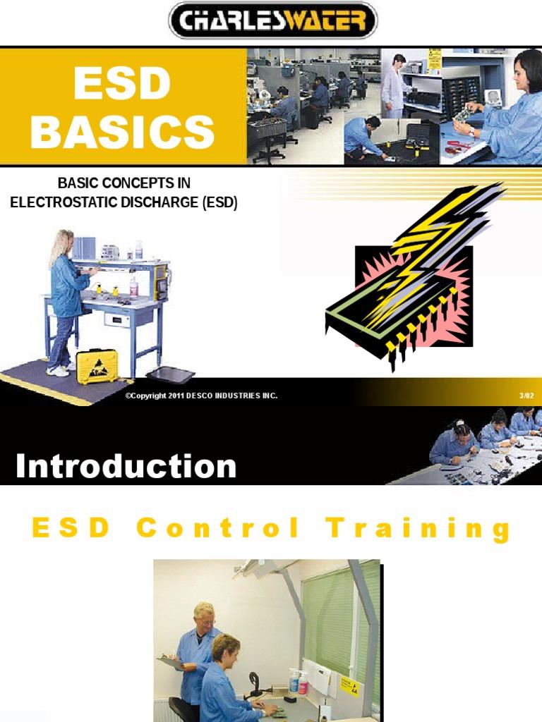 Electrostatic discharge ppt.