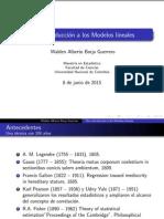 Presentación sobre los modelos lineales