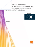 Resilient IP Network Architectures