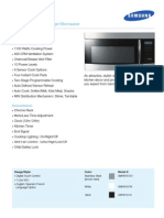 SMH9187ST Samsung Over the Range Microwave Brochure