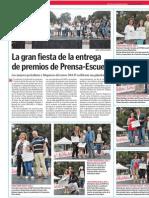 La gran fiesta de entrega de Premios de Prensa-Escuela.LVE.10.06.2015