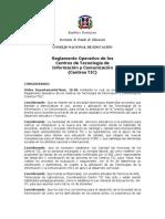 Reglamento Operativo de Los Centros 16-06