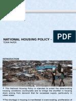 National Housing Policy in Kenya