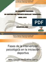 6.- Fases de La Intervencion Psicologica de Iniciacion Deportiva - MTRA. CLAUDIA ALICIA RIVAS GARZA