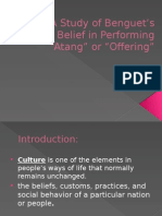 A Study of Benguets Belief in Performing