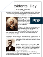 Presidents Day Article