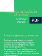 procesos geologicos exteriores