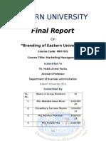 Branding of Eastern University by Wahidul Islam Khan
