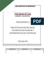 PRO-SGI-PR Identifiación Peligros Valoración Riesgos Rv 02