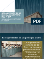 Organizacic3b3n de La Iglesia Adventista Del 7c2b0