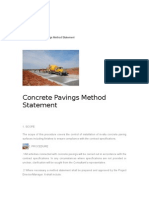Concrete Pavings Method Statement