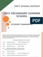 2015 summer school student handbook summer 2