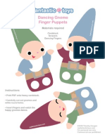 Gnome Finger Puppets